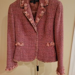 Albert Nipon Pink Tweed Set